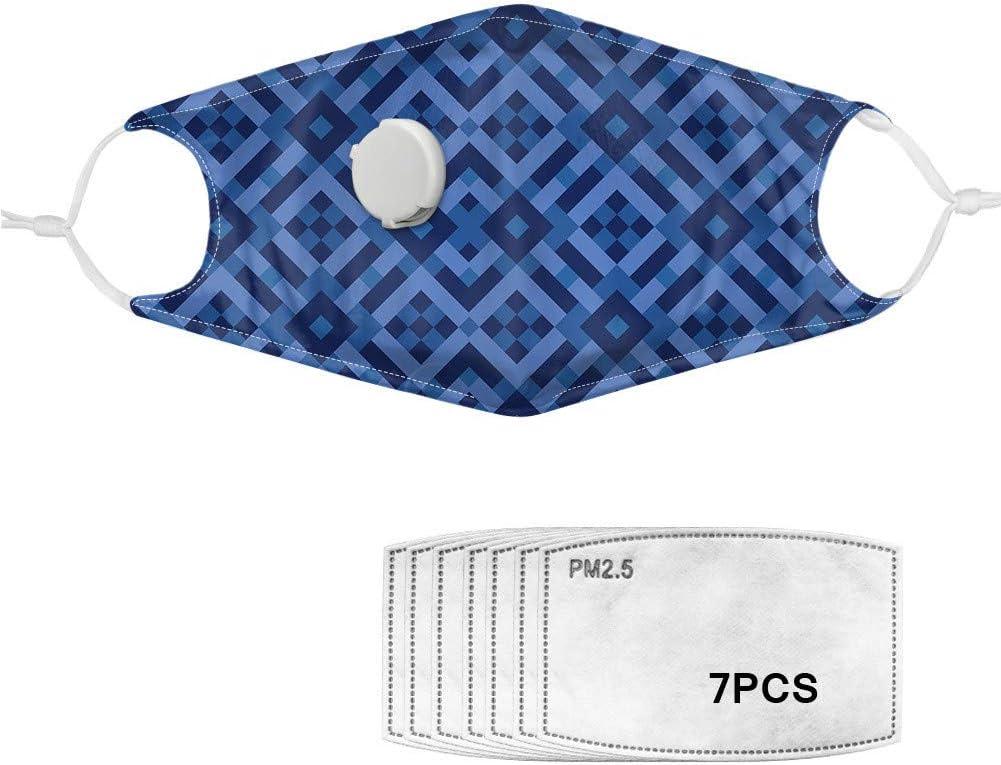 Borui Trading Unisex, máscara de válvula de inhalación, Moda, máscara de Ciclismo, poliéster, Personalidad, Elemento filtrante PM2.5 Transpirable y reemplazable