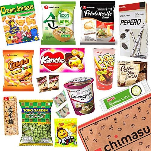 Chimasu - Caja de aperitivos asiáticos (variedad), Chimasu Box - Variety 3 (Savoury)