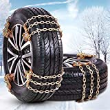 Tire Chains,Snow Chains for SUV,Truck,RV of Tire Width 8.5-12.4 inch,Heavy Duty,Thickened,Adjustable,Durable (6 Pack)