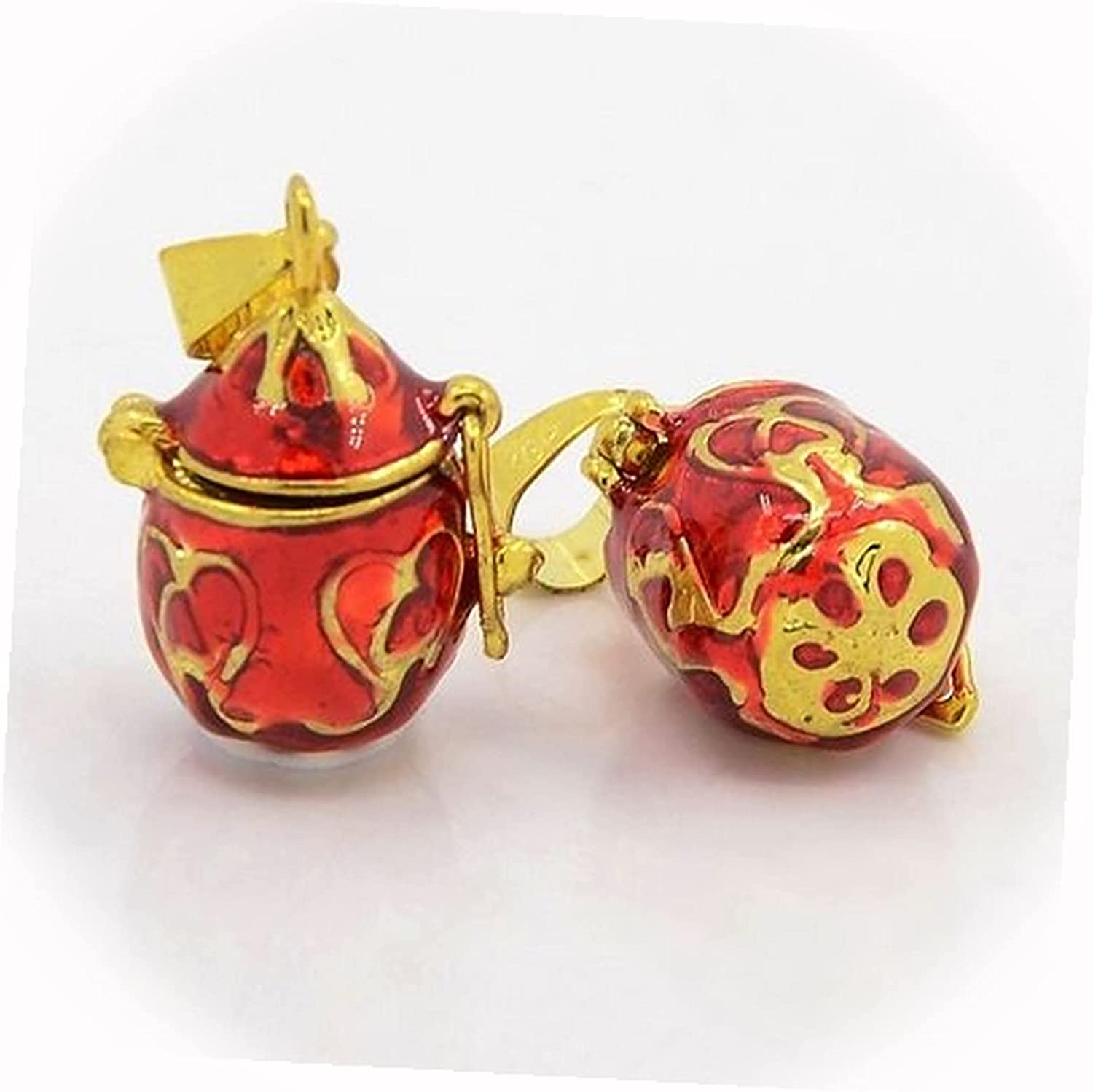 New Red Scrolled Teardrop Gold Wish or Locket Prayer Charm P Box Seattle Mall A surprise price is realized