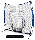PowerNet Team Color Baseball Softball 7x7 Hitting Net w/Bow Frame (Royal Blue)