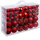 Christmas Gifts 100 x Weihnachtskugeln, Plastik, Red, 12.1 x 35.7 x 23.4 cm