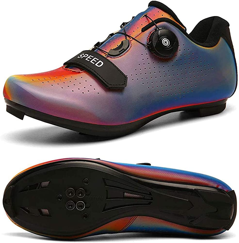 Womens Road Bike Cycling Shoes Spin Shoes with Compatible Cleat Peloton Shoe with SPD and Delta for Women Lock Pedal Cycling Shoes Women