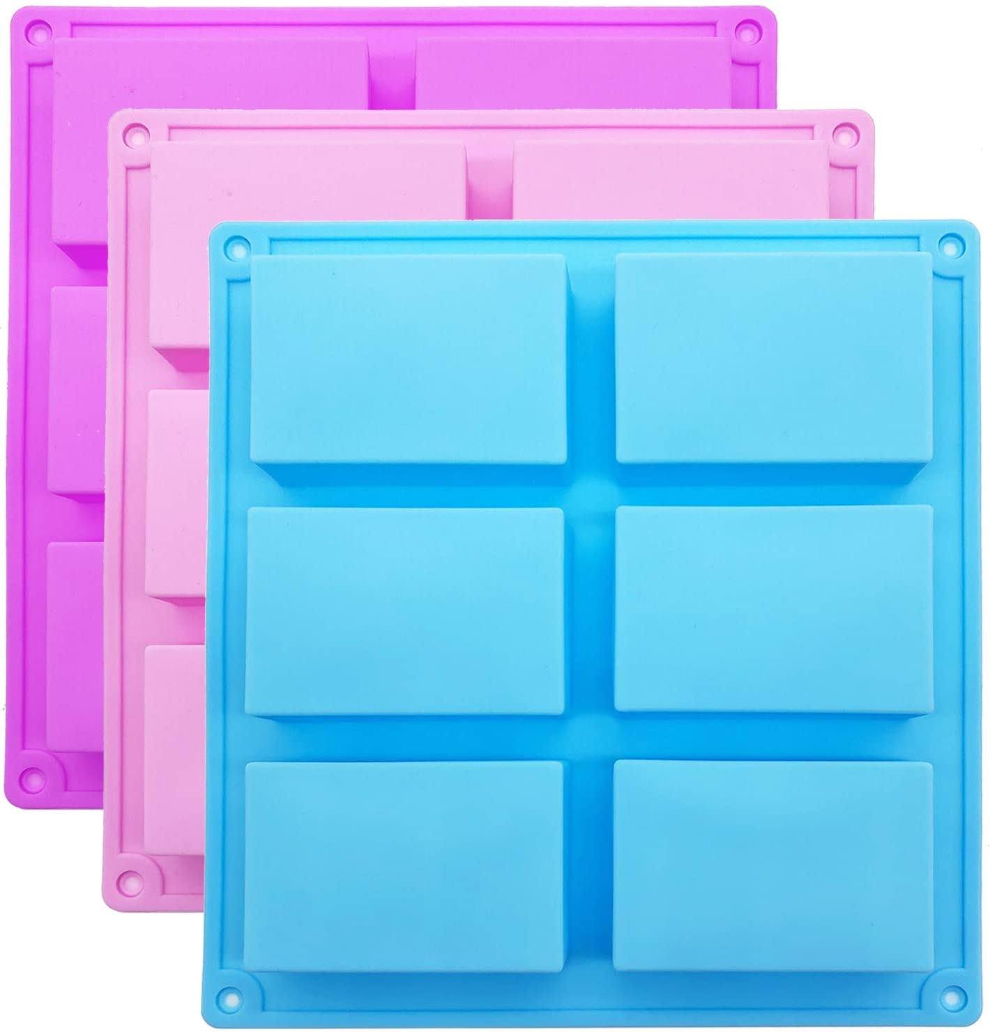 Finally resale start Silicone Soap Molds In a popularity 6 Home for Cavities Rectangle