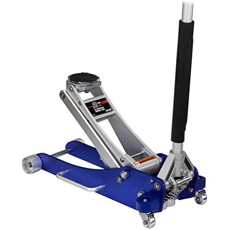 Arcan 2-Ton Quick Rise Aluminum Floor Jack with Dual Pump Pistons & Reinforced Lifting Arm (A20017 / ALJ2T)