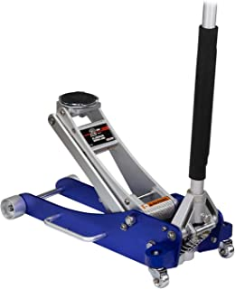 Arcan 2-Ton Quick Rise Aluminum Floor Jack with Dual Pump Pistons & Reinforced Lifting Arm (ALJ2T)