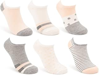 Sof Sole (6 Pairs) Lifestyle Socks For Women, Patterned Ankle Socks, Womens No Show Socks, Womens Socks Low Cut