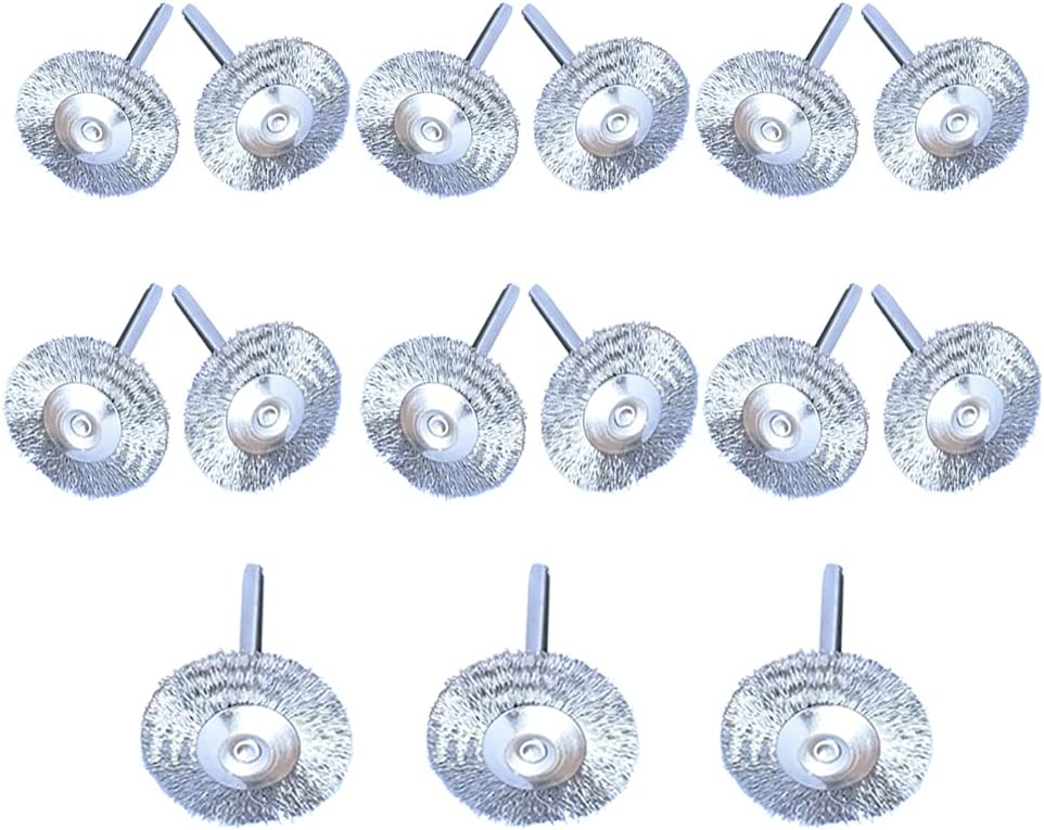 Albedel 15 5% OFF OFFicial shop pcs Stainless Steel Wheels Wire T-shaped Brushes Poli