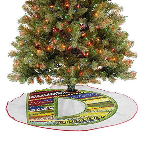 Falda de árbol con diseño de letra del alfabeto para...