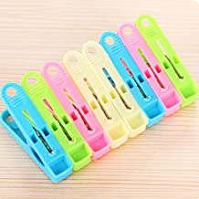 SHYPT Multifunctional Windproof and Non-slip Laundry Clip Clothespin, Multi-color Household Strong Clothespin (Color : Mul...