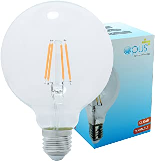 Opus Vintage Filament Globe 5W LED Dimmable Clear G95 Light Bulb ES E27 Lamp