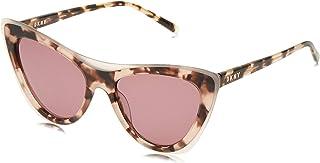 نظارات كونكريت جانغل الشمسية للنساء بتصميم عيني القطة والنمط المرقط على صدفة السلحفاة من دي كيه ان واي