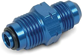 Earl's 991955 Blue Anodized Aluminum -6AN Male to 16mm by 1.5 Power Steering/Fuel Injection Adapter Fitting