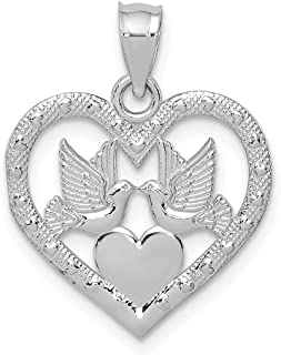 Best white gold dove necklace Reviews