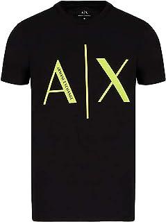 A X Armani Exchange Men's Large A X Logo Cotton Jersey T-Shirt, Black