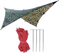 Nicoone 1 St Outdoor Draagbare Regendicht Hangmat Tent Tarp Shelter Camouflage 275*275cm (2)