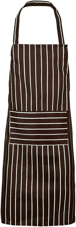 Women Men Adjustable Cotton Linen Kitchen Apron for Cooking Baking Pinafore WT7n
