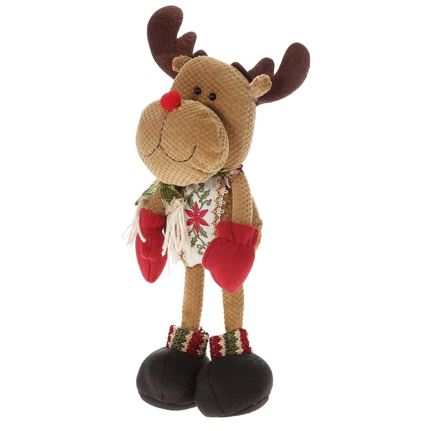 ブルジョン学部長調停するFestnight 素敵なクリスマスぬいぐるみ 立ちサンタクローストナカイ雪だるま クリスマス人形 クリスマスの飾り