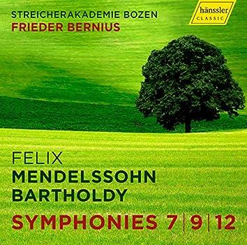 Mendelssohn: String Symphonies Nos. 7, 9 & 12
