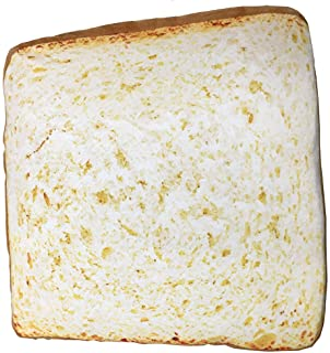 NOVELTY GIANT WWW.NOVELTYGIANT.COM Toast Bread Slice Realistic Soft Velvet Foam Pillow Seat Cushion