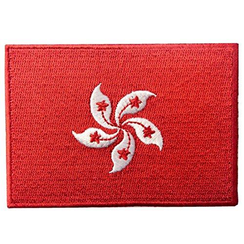 Bandera de Hong Kong Perla del oriente Parche Bordado de Aplicación con Plancha