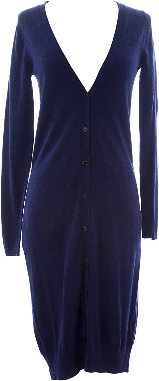 BODEN Women's Longline Maxi Cardigan Sweater Dress US Sz 2 Navy