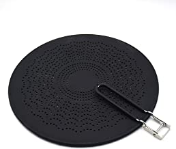 """MarhJean 13"""" Silicone Splatter Screen - Pan Cover with Folding Handle, High Heat Resistant Oil Splash Guard - Heat Insulat..."""