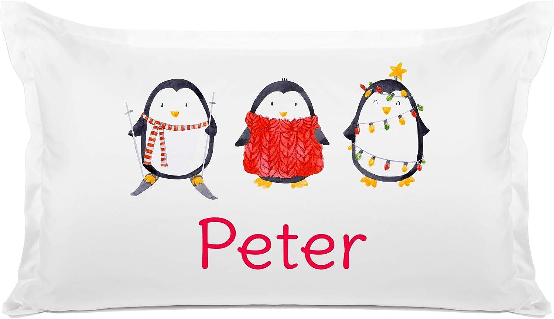 Di Lewis Kids Holiday Sacramento Mall Pillowcase – Penguins Per - Christmas San Antonio Mall