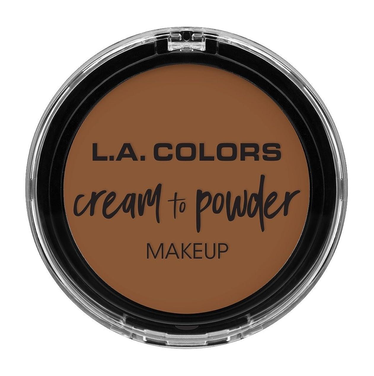 面推進マチュピチュL.A. COLORS Cream To Powder Foundation - Tan (並行輸入品)