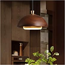 Light-S Nordic Minimalist Pendant Light Kitchen Wood Ceiling Light Single Head Wrought Iron Fixture Bedside Glass Hang Lamp