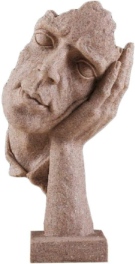 Creative Abstract Decor The Thinker Hand Face Brand Cheap Sale Venue Statue Statues a 5% OFF