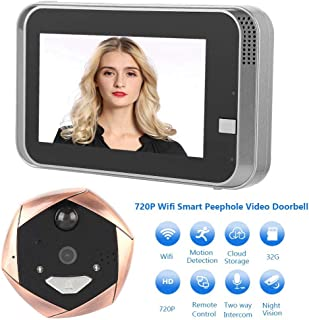 Digital Peephole, Peephole Camera, Door Peephole Viewer Screen HD 4.3 Inch Color + Night Vision Function + 32G, Supports iOS/Android for Home/Hotel/Office