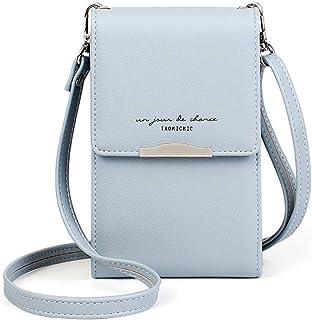 Katech Handtasche Damen Kleine, Multifunktionale Handytasche Citytasche Schultertasche mit Vielen Fächern und Kartenfäche...