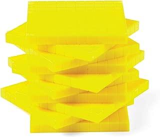 hand2mind Yellow Plastic Base Ten Blocks, Flats (Pack of 10)