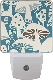 Westwood Toadstools Mushrooms Auto Sensor LED Dusk to Dawn Night Light Plug in Indoor for Bedroom Bathroom Kitchen Hallway