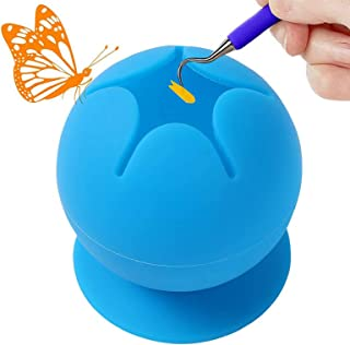 Suctioned Vinyl Weeding Scrap Collector for Vinyl Weeding Tool Kit with Star Shaped Opening Soft Silicone Food Grade (Blue)