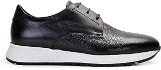 6778-DEC EXLDEC-Floter Siyah701- Antik Siyah 201 Nevzat Onay Bağcıklı Siyah Günlük Deri Erkek Ayakkabı