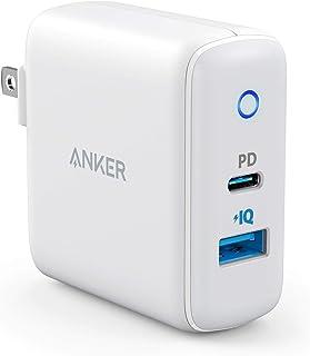 Anker PowerPort PD 2(PD対応 30W 2ポート USB-A & USB-C 急速充電器)【PSE認証済 / Power Delivery対応 / PowerIQ搭載 / コンパクトサイズ】iPhone 11 / 11 Pr...