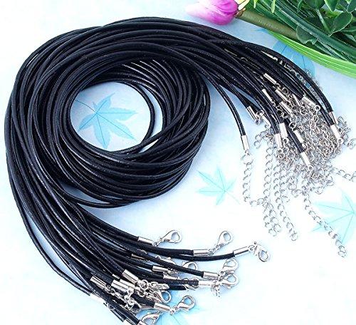 Healthy clubs Halsband Halskette Kette, 30x Leder Band, Länge: ca. 408-440 mm