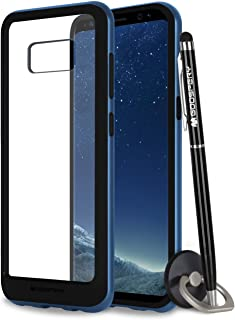 Galaxy S8 Case, Mercury Bumper X [Shockproof] Protective Hybrid TPU Cover with Clear Hard PC Back [Slim Fit] for Samsung Galaxy S8 - Coral Blue, S8-BPX/GF-BLU
