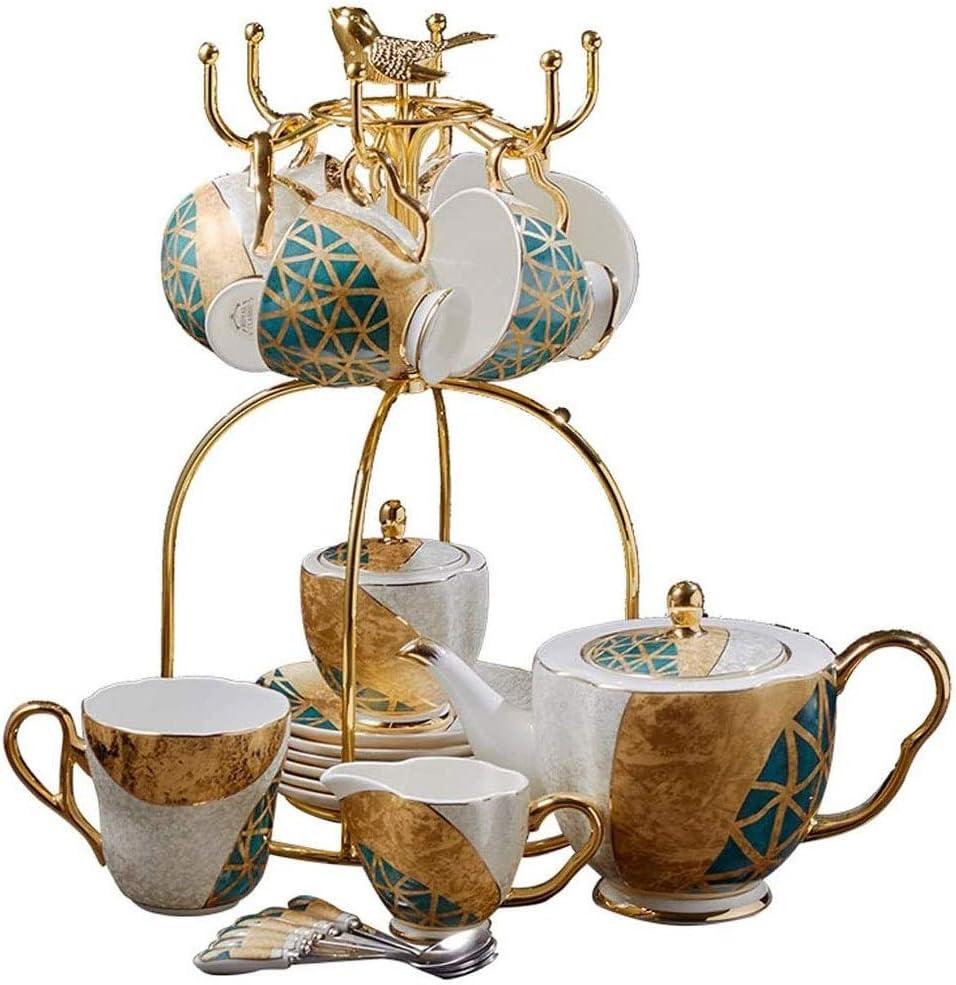 Bone China Coffee Set Spring new work Gold Porcelain Pot Max 61% OFF Premium Tea Inlaid
