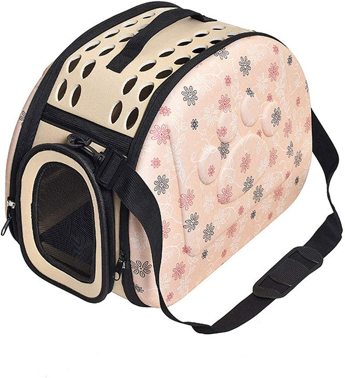 Pet Backpack, pet Space Capsule Portable pet cage Out cat and Dog Backpack Large pet nest,Yellow,L