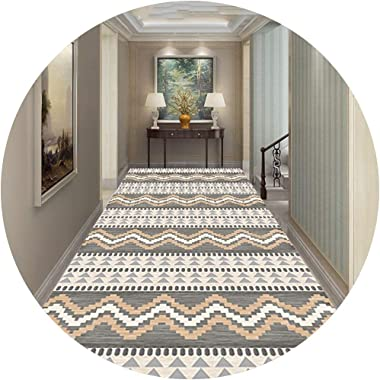 JIAJUAN Runner Rug Non Skid Durable for Hallway Aisle Living Dining Room Kitchen Entryway Passage Corridor, Custom Size (Colo