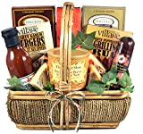 The Grill-Master, Deluxe - A Grilling Gift Basket for Men with BBQ Sauce, Rubs, Recipes, Nuts and more, 7 Pounds