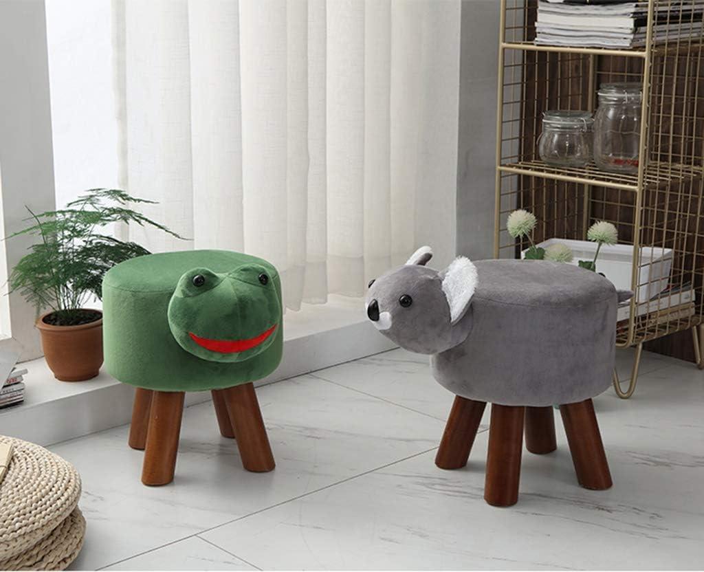 Canapé Selles D'animaux For Enfants, Chaise Animal Domestique Adulte Bois Solide Mode Tabouret Bas Salon Tabouret De Chaussures, (Color : Frog) Puppy