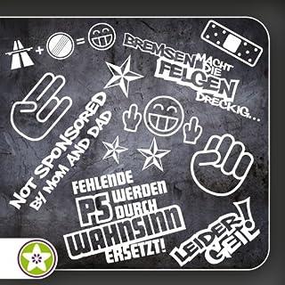 Sticker Bomb Set 01   Bremsen…Felgen…, Shockerhand, Autobahnfreak, Fehlende PS…, Leider Geil... Verschiedene Farben