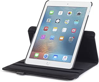 Devicewear iPad Pro 9.7 Case -Rotating Black Vegan Leather, Multiple Position Stand, Magnetic On/Off Switch (DET-IPP97-BLK)