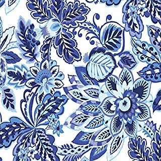 Vibrant Blue Floral Printed Tissue Paper for Gift Wrapping with Elegant Design, Decorative Tissue Paper - 24 Large Sheets, 20x30