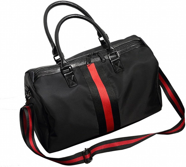 Reisen Taschen Freizeit Mode Sporttaschen Mnner und Frauen Handtaschen Trend Wasserdicht Gepck Tasche Nylon Tuch Fitness Tasche , schwarz
