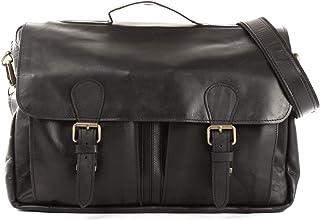 LECONI Aktentasche DIN A4 Businesstasche Messenger Bag Ledertasche Unitasche Vintage für Damen & Herren Leder 40x29x9cm LE3029
